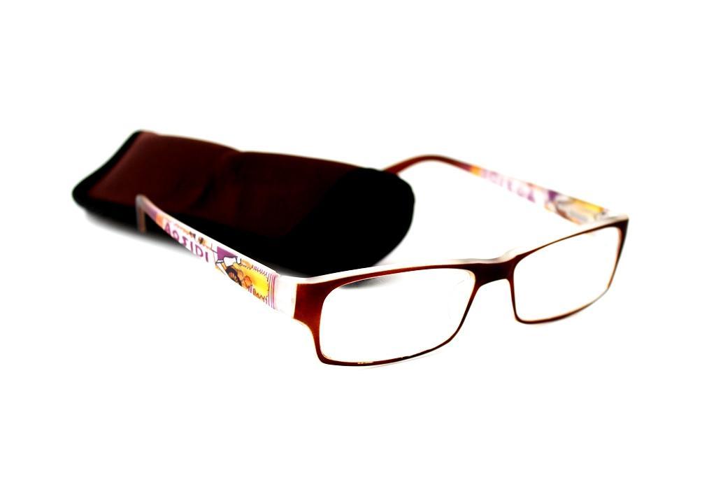 готовые очки с футляром Oкуляр 105022 коричневый