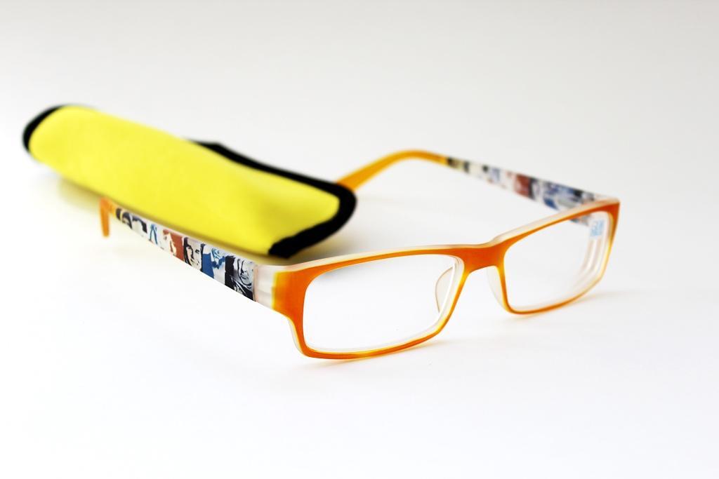 готовые очки с футляром Oкуляр 105022 желтый